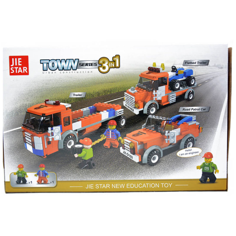 jucarii black friday - Lego Camion interventie jeep interventie lego 3 in 1 2 - Jucarii copii – Black Friday