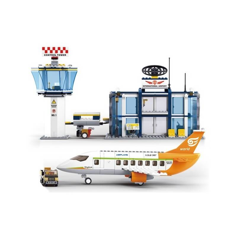 set aviatie cu aeroport model lego - lego set aviatie lego aeroport 2 - Set aviatie cu aeroport, set model lego